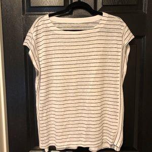 eileen fisher striped linen shirt box top